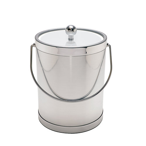 Brushed Silver 5 qt. Ice Bucket