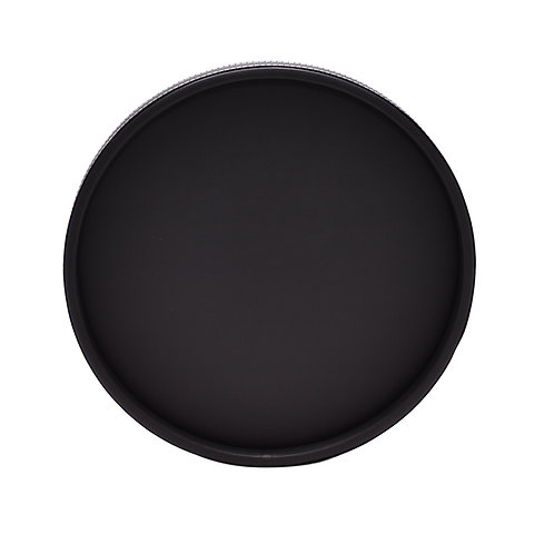 Black Leatherette Stitch Round Tray