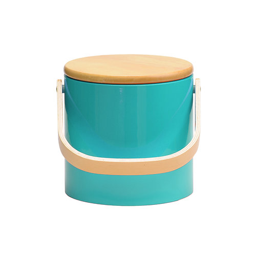 Turquoise Beachwood 3 qt. Ice Bucket