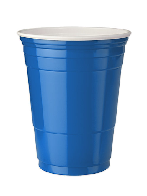 Blue Party cups 16 oz. Set of 4