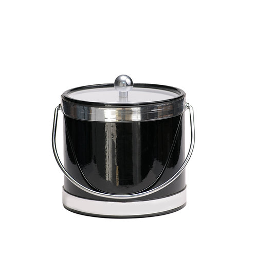 Black Patten with Dual Silver Bands 3 qt.