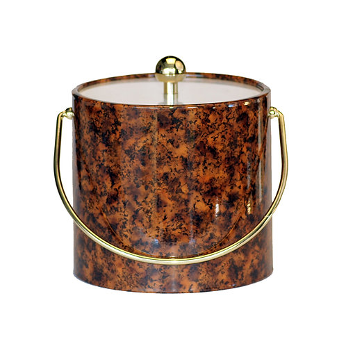 Brown Marble 3 qt. Ice Bucket