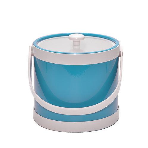 Turquoise Springtime 3 qt. Ice Bucket