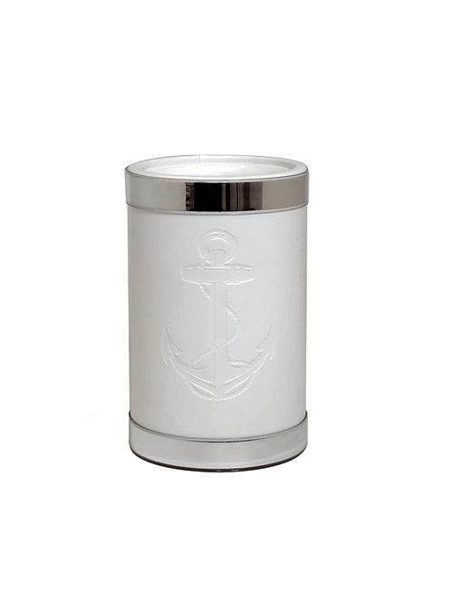 White Castilian Debossed Anchor Wine Cooler