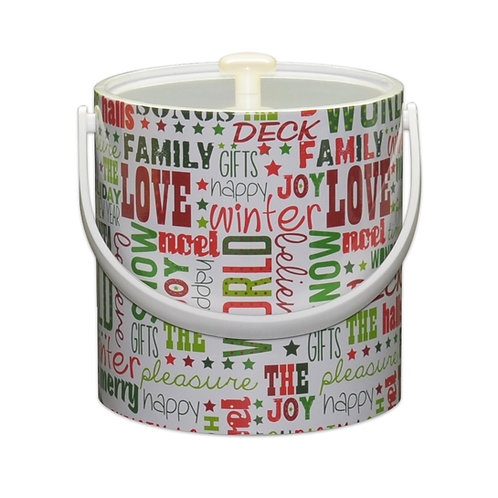 Deck The Hall Christmas 3 qt. Ice Bucket