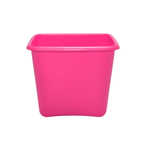 Pink  Plastic 13 Quart Waste Basket