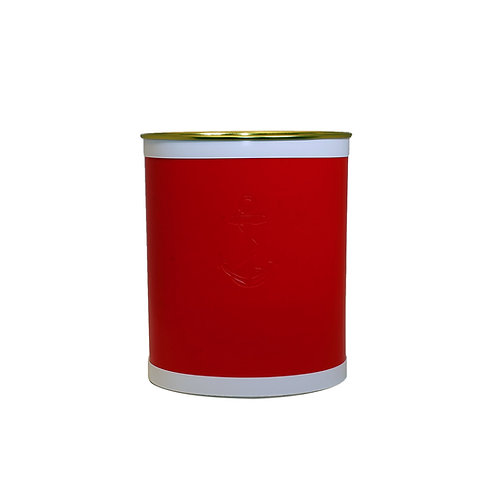 Red Castilian Debossed Anchor Waste Basket
