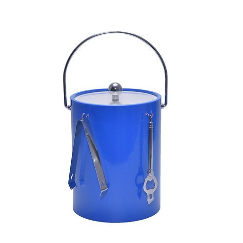 Blue 5 qt. Ice Bucket With Bar Tools