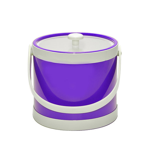Purple Springtime 3 qt. Ice Bucket