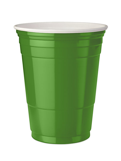 Green Party cups 16 oz. Set of 4