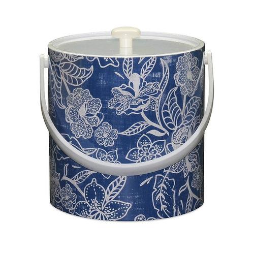 Blue Flowers 3 Qt. Ice Bucket
