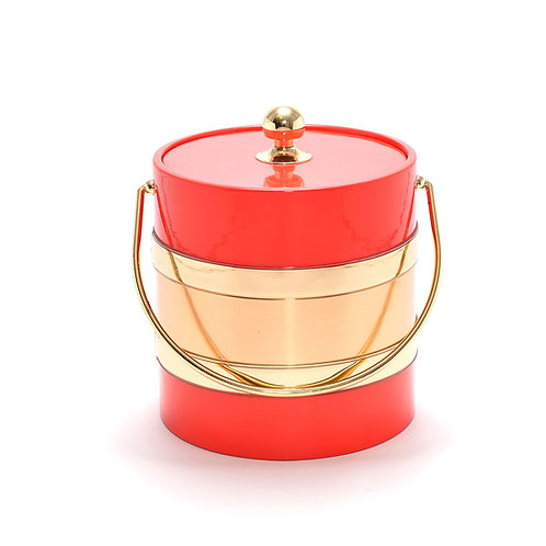 Red with Gold Center  3 qt. Ice Bucket