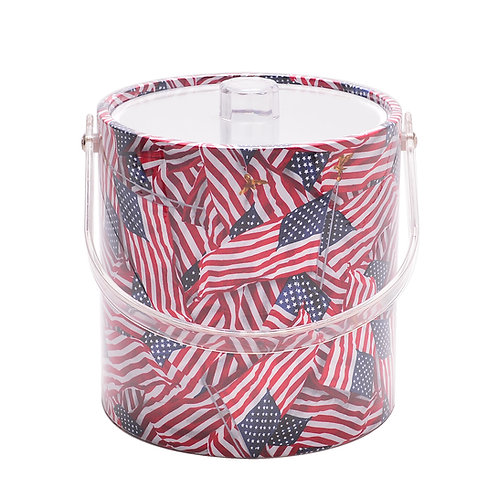 American Flag 3 qt. Ice Bucket