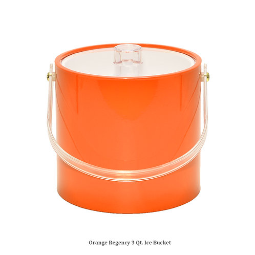 Orange Regency 3 qt. Ice Bucket