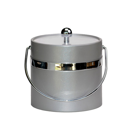 Silver Castl w Single Silver Band 3 qt. Ice Bucket