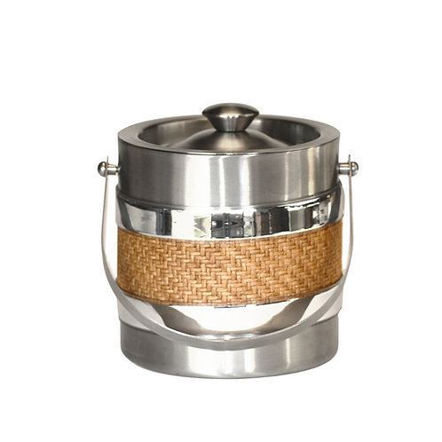 Stainless Steel with Wicker 3 QT. Ice Bucket
