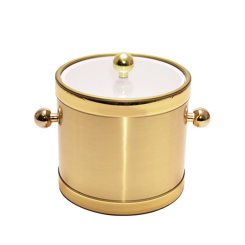 Brushed Gold with Clear Lid 3 qt. Ice Bucket