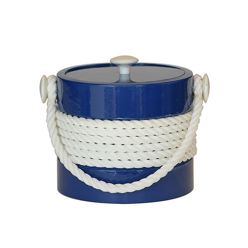 Blue with White Center Rope 3 qt. Ice Bucket