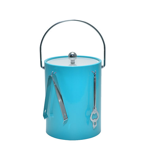 Turquoise 5 qt. Ice Bucket With Bar Tools