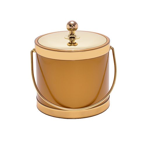 Gold Patten with Metal Lid 3 qt. Ice Bucket
