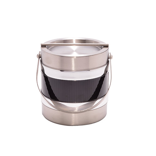 Stainless Steel with Black vert 2 Qt. Ice Bucket