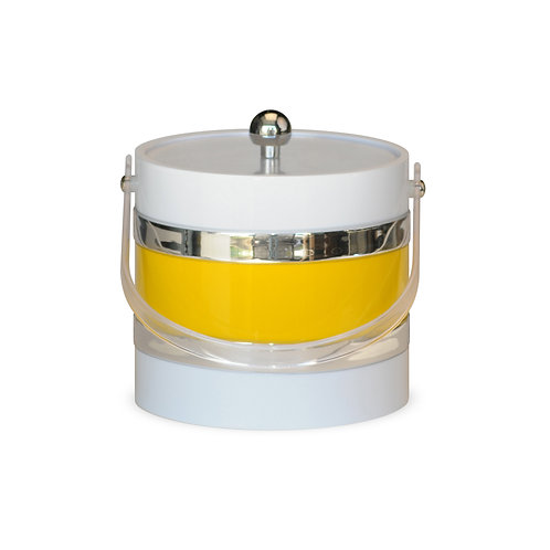 White With Yellow Center 3 qt. Ice Bucket