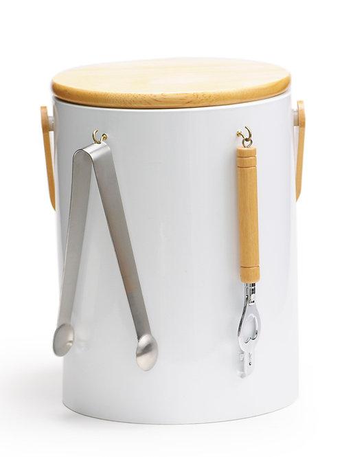 White Beachwood 5 qt. Ice Bucket