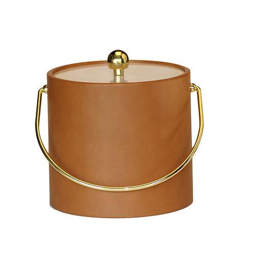 Tan Saba Leatherette 3 qt. Ice Bucket