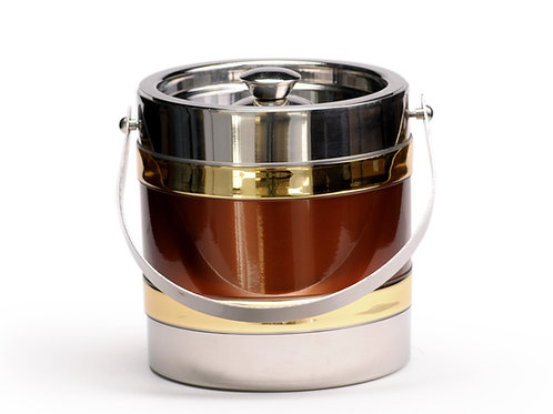 Stainless Steel with Copper 3 QT. Ice Bucket