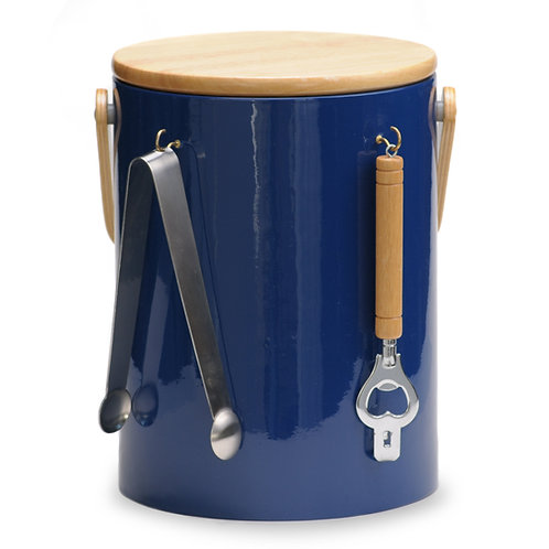 Blue Beachwood 5 qt. Ice Bucket With Tools