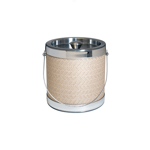 Stainless Steel Metallic Wicker 2 Qt. Ice Bucket
