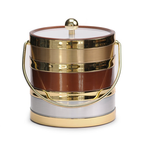 Tri Color Copper Center 3 qt. Ice Bucket