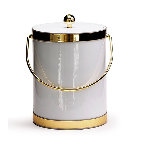 White Patten with Dual Gold Bands 5 qt.