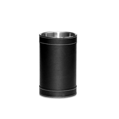 Black Leatherette Stitched Wine Cooler