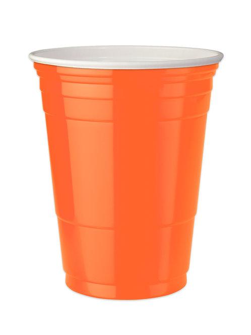 Orange Party cups 16 oz. Set of 4