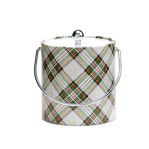 White Plaid  3 qt. Ice Bucket