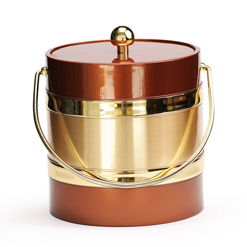 Copper Patten with Gold Center 3 qt. Ice Bucket