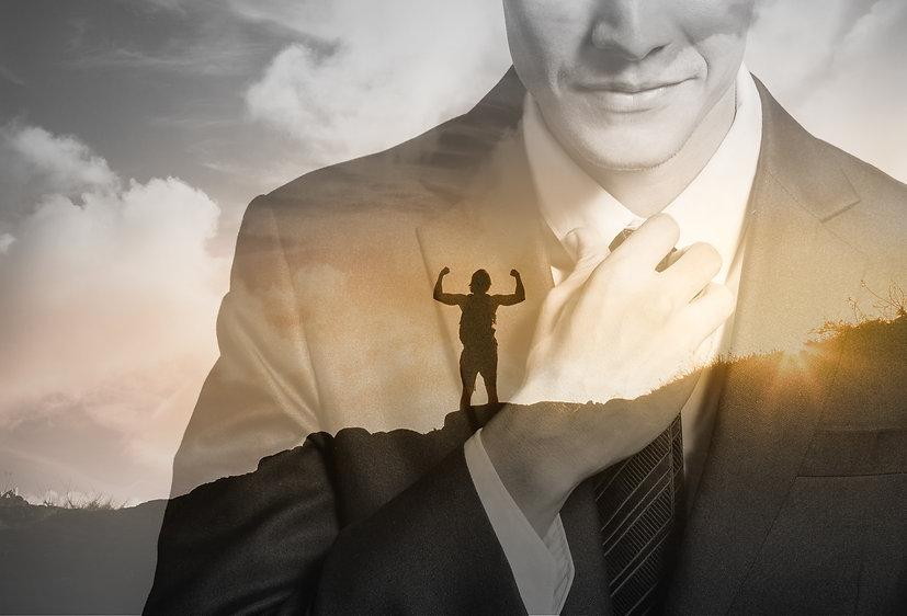 Führungskraft erreicht den Karrieregipfel