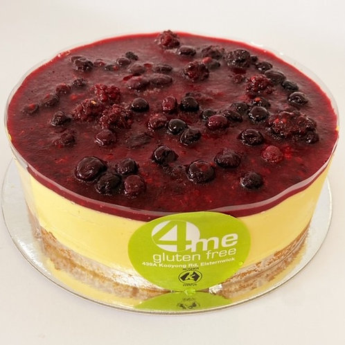 mango mousse cake with mixed berry coulis 8 inch