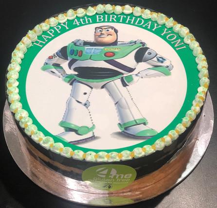 4me gluten free buzz light year themed cake