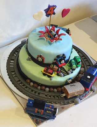 4me gluten free thomas the tank engine themed birthday cake