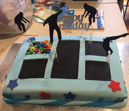 4me gluten free trampoline themed birthday cake