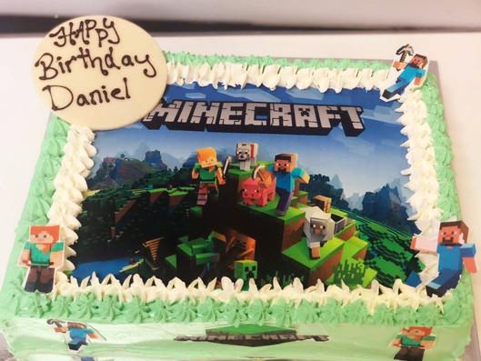 4me gluten free minecraft themed birthday cake