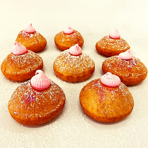 pink lemonade doughnut [with pink lemon curd]