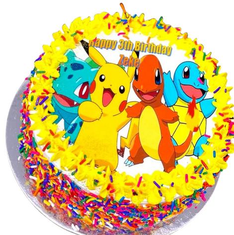 pokemon themed cake