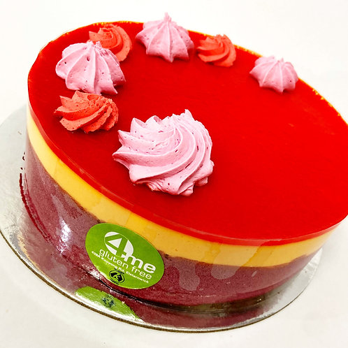 tropical sunset [blood peach mousse and guava] 8 inch