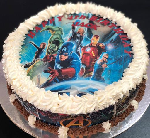 4me gluten free avengers cake
