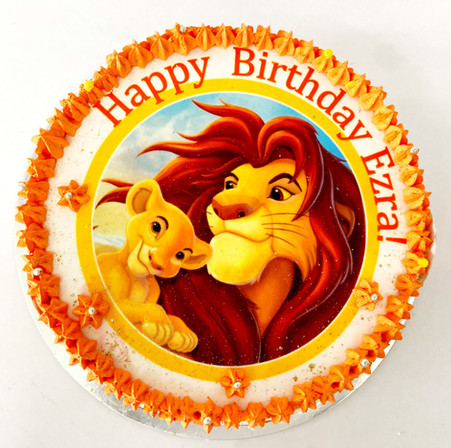 the lion king themed cake