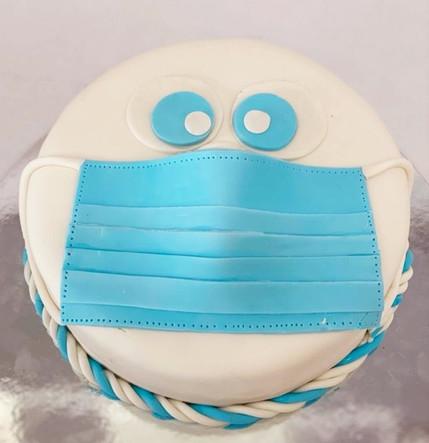 mask themed cake