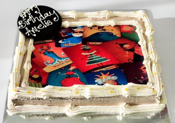 starfish queen birthday cake